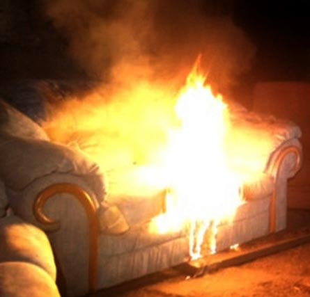 flaming Couch